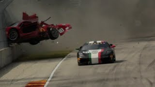 Efektowny wypadek Ferrari
