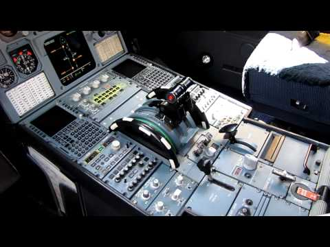 Tame Linea Aerea del Ecuador New Airbus A319 HC-CMO cockpit review (HD)