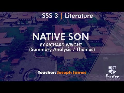 Analysis of 'Native Son' by Richard Wright (Summary Analysis/Themes) - SSS3 Literature