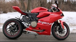 6. Ducati Panigale 1199 Exhaust Sound & Walkaround, Startup & Reeving - Zimowe Przepalanie Panigale