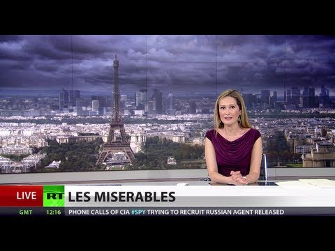 amid - The French economy has slipped back into recession - after being dragged further into Europe's financial troubles. And the poor figures are stacking up again...
