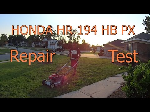 REPAIR Bad Vibration & TEST Mowing Honda HR 194 HB PX Push Mower