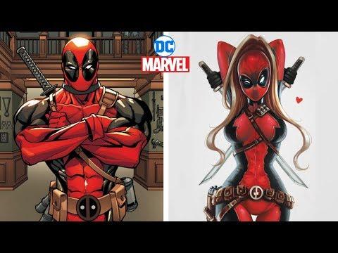Marvel & Dc Characters Gender Swap Version