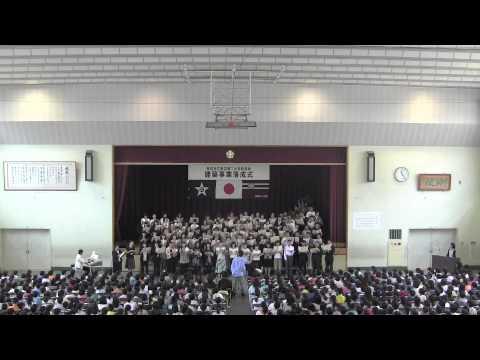150517 田辺第二小学校新校舎・校庭落成お祝いコーラス 麦の唄