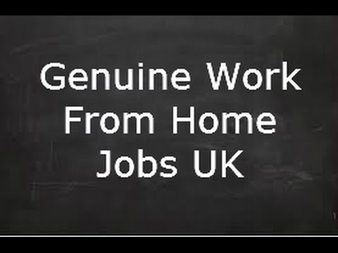 Genuine Work From Home Jobs UK