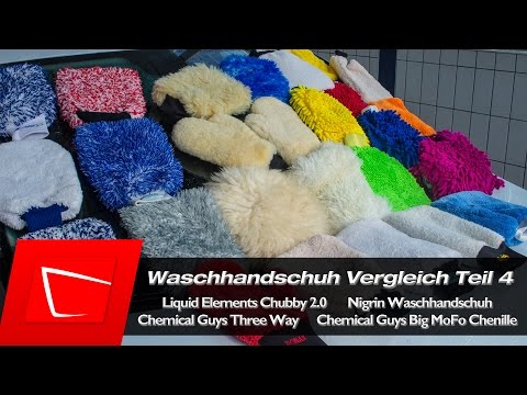 Waschhandschuh Test - Autopflege Teil 4 Chemical Guys, Meguiars, Liquid Elements, Nigrin