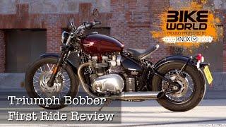 2. 2017 Triumph Bonneville Bobber First Ride Review (Bike World)