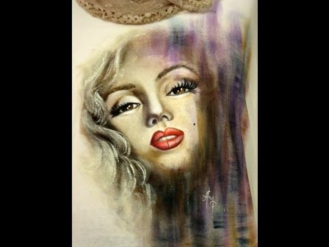 Como pintar en tela - Remera Marilyn