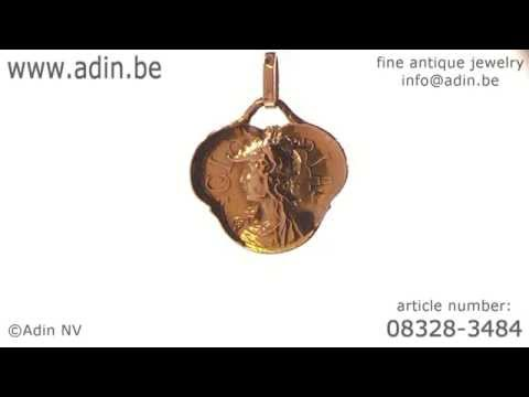 French late Victorian early Art Nouveau pendant signed F.Rasumny. (Adin reference: 08328-3484)