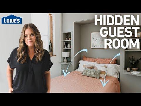 How to Build a Hidden Guest Room w/ a Murphy Bed