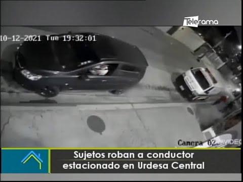 Sujetos roban a conductor estacionado en Urdesa Central