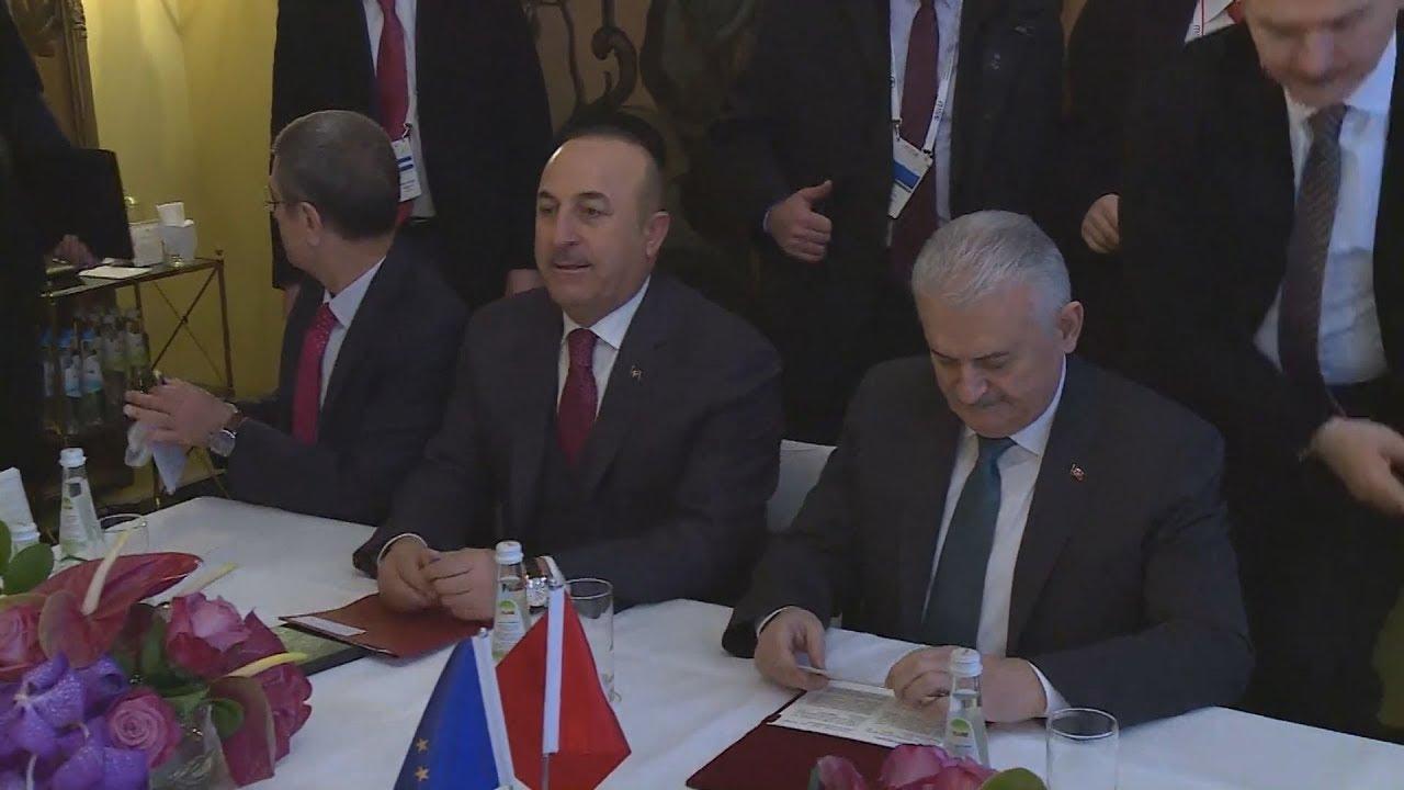 Συνάντηση  του προέδρου της Κομισιόν με Μ.Γιλντιρίμ και Μ.Τσαβούσογλου