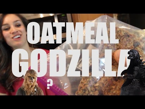 Oatmeal Godzilla | 75g Protein | 1500 Calories | Vegan Weight GAIN