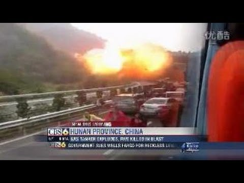 tanker - A tanker carrying liquefied natural gas has exploded in central China, killing five people, including three firefighters. The blast happened on a major motor...