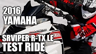 3. TEST RIDE: 2016 Yamaha SRViper R-TX LE 129