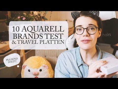 10 Watercolour Brands im Test 🎨 inkl. Travel Paletten Ideen