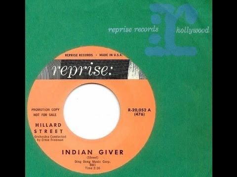 Hillard Street - INDIAN GIVER  (1962)