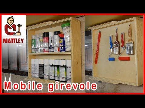 FAI DA TE   Mobile girevole porta vernici e strumenti di pittura