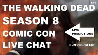 The Walking Dead Season 8 Comic Con LIVE CHAT. Join kilzhot and the 999 Army as we discuss the events from the Comic Trailer. Are Michonne and Rosita going to kill Jadis? Does Shiva suffer her comic fate? Father G is confronted by Negan!! Dwight might finally break free from Negan. These topics and more discussed LIVE!!!