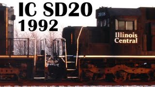 Bradley (IL) United States  city pictures gallery : Illinois Central SD20 2009, Bradley, IL, Sept. 23, 1992