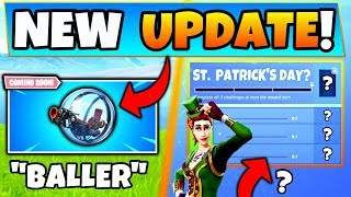 Fortnite BALLER VEHICLE + Possible New Event and Challenges?! - 5 Update Things in Battle Royale!