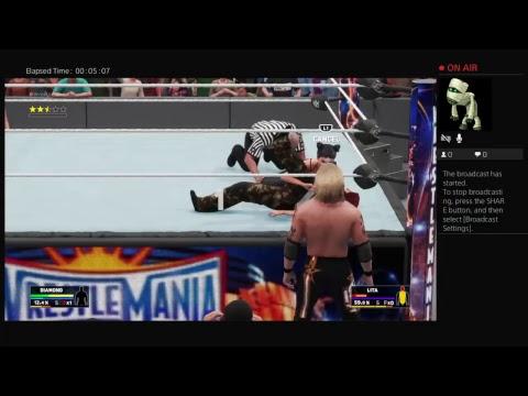 bossman505643567's Live PS4 Broadcast lita vs diamond