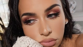 PINKY PEACH GLAM | SPRING MAKEUP TUTORIAL by Carli Bybel