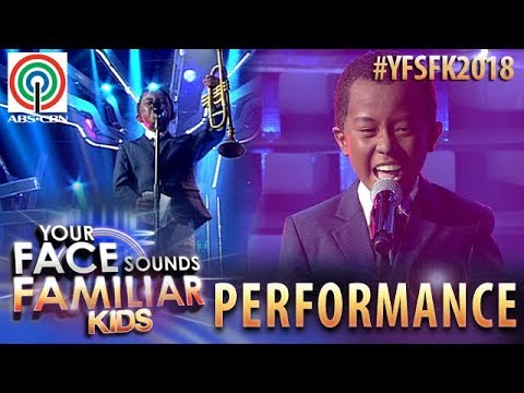 Your Face Sounds Familiar Kids 2018: Onyok Pineda as Louis Armstrong   What A Wonderful World (видео)