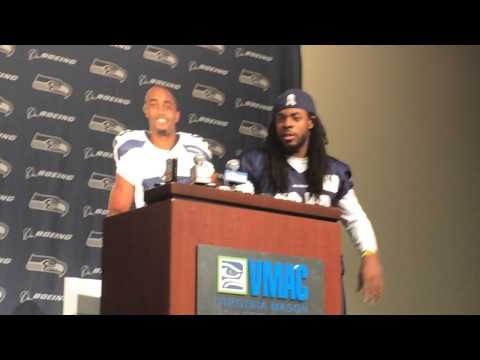 Richard Sherman, Doug Baldwin mock NFL media policies