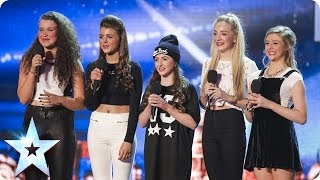 Brand new girl band SweetChix with Back To Black   Britain's Got Talent 2014
