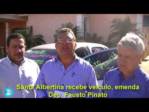 Santa Albertina recebe veículo para Saúde zero Km de emenda do Deputado Fausto Pinato.
