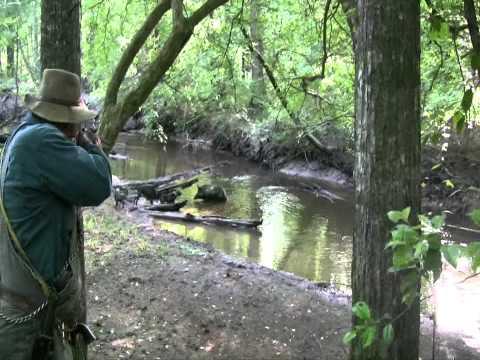 Big Boar Gets a Running Head Shot!  Wild Hog Hunting  -  Boar Hunting