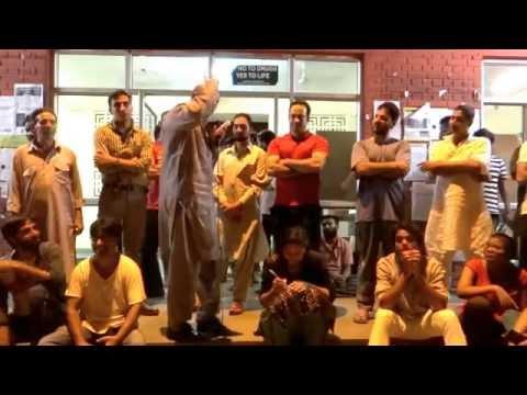Engineer Rashid, Independent MLA from J&K speaks at Chandrabhaga Hostel premise JNU Samim Asgor Ali  Samim Asgor Ali