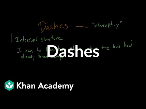 Dashes Video Khan Academy