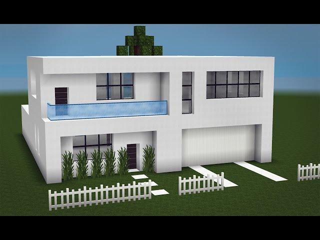 Minecraft como fazer uma pequena casa moderna 2 for Casa moderna minecraft easy
