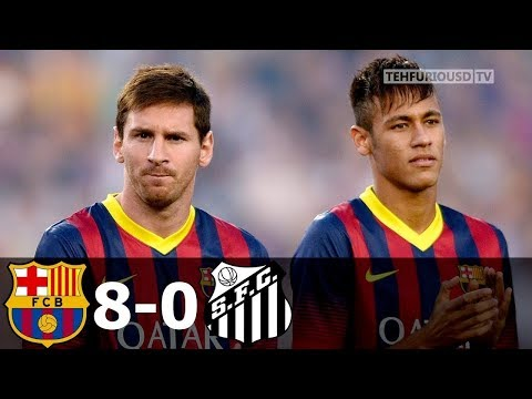 FC Barcelona vs Santos 8-0 All Goals and Extended Highlights (Joan Gamper Trophy) 2013-14 HD 720p
