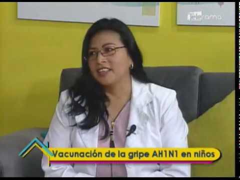 Vacunación de la gripe AH1N1 en niños