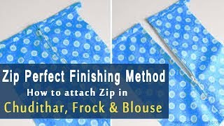 zip attach in tamil | How to Stitch Zip in kurti, Frock, Chudithar | Zipper Attachment tutorial