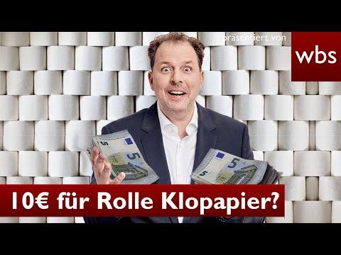 Corona: Rolle Klopapier für 10 Euro – ist das Wucher?