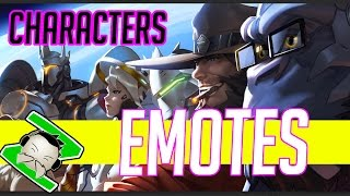 NEW Overwatch Emotes - All Character Emotes Hello Thanks - Blizzard FPS, Blizzard Entertainment, World of Warcraft
