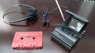 Watching video,  listening to your music and receiving radio broadcasts on a single pocket sized gadget was possible in the 1980s it just took a bit of effort.Q) Why didn't I wrap a wire around the aerial to supply a video signal? A) To keep the device looking neat and tidy. With it being a portable wireless device, I didn't want to demonstrate it with wires going into it. Besides, I already had a video sender. INFO - Apologies - There are a couple of sections that are slightly out of focus, but you wouldn't believe how tricky it was to get any clear shots of this thing at all - it was a fine balancing act between angle of the light, the screen, the mirror and my camera...and on top of that eagle eyed viewers will notice that I didn't close the cassette door properly at one point.  -------------SUPPORT---------------This channel can be supported through Patreon https://www.patreon.com/techmoanPatrons usually have early access to videos---------------SUBSCRIBE------------------ http://www.youtube.com/user/Techmoan?sub_confirmation=1----------Outro Music-----------Over Time - Vibe Tracks https://youtu.be/VSSswVZSgJw------Outro Sound Effect------ThatSFXGuy - https://youtu.be/5M3-ZV5-QDM