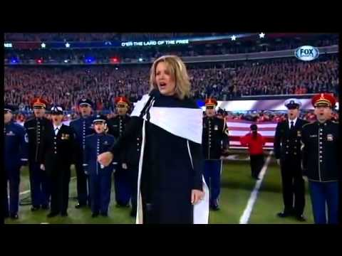 NFL Super Bowl XLVIII 2014 – Renee Fleming sings National Anthem 'The Star Spangled Banner' 2014