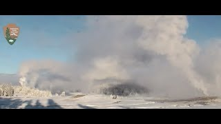 Download Video Crazy Morning at Yellowstone Old Faithful 1/21/18 Large eruptions! MP3 3GP MP4