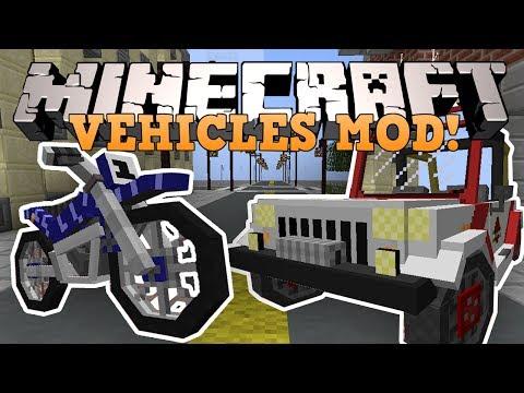 Minecraft транспорт мотоциклы джипы и тд