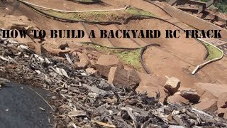 How To Build An Rc Car Track Part 1 (construction)