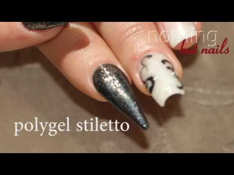 Nageldesign - polygel wieACRYLgel stiletto tutorial   nothing but nails