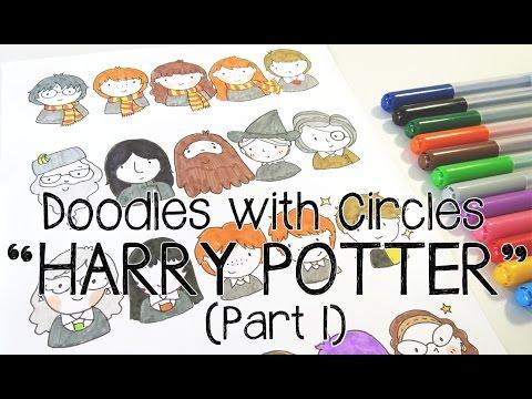 Kawaii Harry Potter Doodles (Part 1) | Doodles with Circles