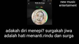 Video Duta Pamungkas - Rindu Dan Surga - Lirik MP3, 3GP, MP4, WEBM, AVI, FLV Juli 2018