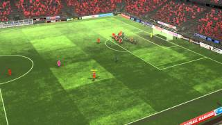 Coentrão goal scored during Liverpool vs Wolves after 78 minutes on Football Manager 2013.