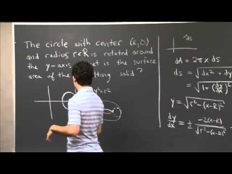 Surface Area of a Torus | MIT 18.01SC Single Variable Calculus, Fall 2010